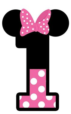 Minnie Mouse: Free Printable Toppers or Labels in pink. Minnie Mouse Template, Mickey E Minnie Mouse, Theme Mickey, Minnie Mouse 1st Birthday, Minnie Png, Mickey Party, 1st Birthday Parties, Happy Birthday, Mickey Mouse Drawings