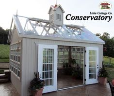 The Conservatory Greenhouse from Little Cottage Company can make a great She shed #conservatorygreenhouse