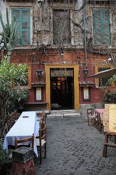 Trastevere, Rome. when in rome, italy go out to dinner in trastevere- it's the best!!! and that's coming from native italians. mangia and enjoy!