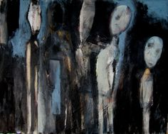 "Fred Smilde; Oil, Painting ""Figures"""