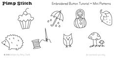 Embroidery Patterns - Small