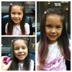 Kids can enjoy hair chalk too :) Kids Hair Color, Color Bug, Hair Chalk, Kevin Murphy, Cute Cuts, Love Hair, Hairspray, New Hair, Girl Hairstyles