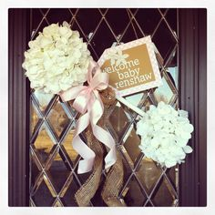 Baby Rattle Door Hanger - Welcome Home!