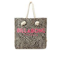 Billabong Beach Bags - Billabong Essentials Tote Beach Bag - Black Pebble
