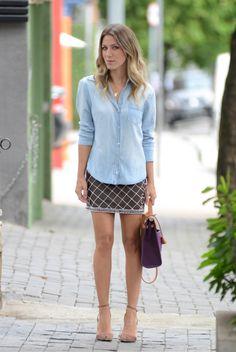 glam4you - nati vozza - look  - saia - bordado - jeans - hermes - herbag - nude - look do dia