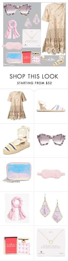 """Fashion With Pompom Top"" by justinallison ❤ liked on Polyvore featuring Sea, New York, Soludos, Roksanda, Kara, HVN, Brooks Brothers, Kendra Scott, Michael Kors and Dogeared"