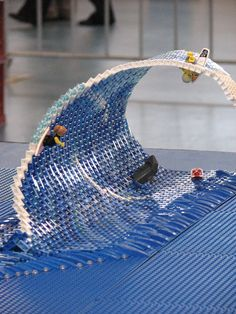 Lego wave...darn these are clever people! #lego #wave #brickadelics #clever #people #scene