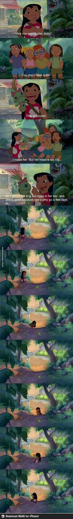 Lilo and Stitch is my favorite Disney/Pixar movie. I've watched it more times than I've watched any other of their films.