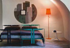 Foscarini Birdie floor lamp, contemporary italian lighting design style