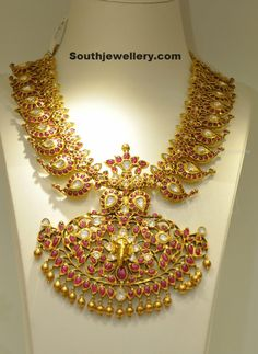Ruby Mango Mala ~ Latest Jewellery Designs