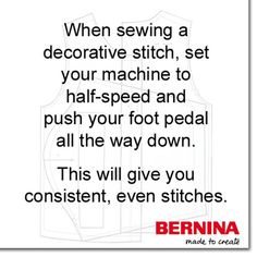 #sewingtip #didyouknow #berninausa #stitch
