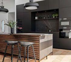 Køkken | Få inspiration fra vores skønne kunder | Svane Køkkenet Cabin Interiors, Home Kitchens, Minimalism, Kitchen Design, Sweet Home, Table, Furniture, Home Decor, Mime Artist