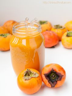 Raw Persimmon Smoothie (low fat, vegan) - Shine with Nature