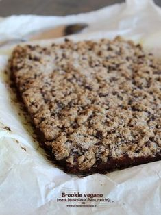 brookie vegano Healthy Cake, Vegan Cake, Healthy Sweets, Raw Food Recipes, Sweet Recipes, Cake Recipes, Vegan Treats, Vegan Foods, Breakfast Snacks