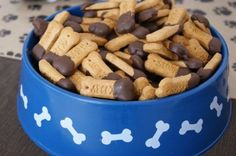 """Puppy themed party The food table has puppy chow (cocoa puffs), dog bones (Scooby Snacks), Puppy Chews (fruit chews), and Doo-Doo (chocolate covered peanuts! all in Dollar store dog bowls with metal """"pooper scoopers. Dog Themed Parties, Puppy Birthday Parties, Puppy Party, Birthday Party Themes, Birthday Ideas, 2nd Birthday, Dog Themed Food, Scooby Snacks, Graham Crackers"""