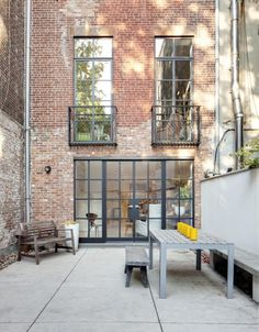 An Artists Kitchen Renovation in New York City: Before and After, Remodelista - Love the oversized windows