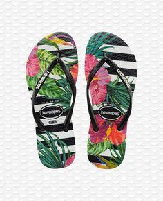 Floral Sandals, Black Sandals, Kids Sandals, Flip Flop Sandals, Boys Flip Flops, Havaianas Slim, Floral Flip Flops, Rubber Flip Flops, Black And White Background