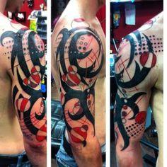 custom geometric tribal tattoo in Charlotte NC
