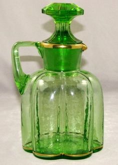 Uranium Glass Decanter, ca. 1840