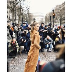 Before the show in Paris, shot by Kristina Bazan, Suede Coat, Paris Shows, Balmain, Beauty Makeup, Take That, Classy, Nude, Glamour