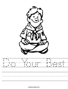 Cub Scout Motto Coloring Sheet