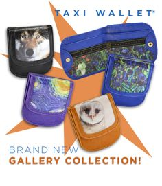 Introducing...TAXI WALLET® Gallery Collection! #vangogh #owl #wolf