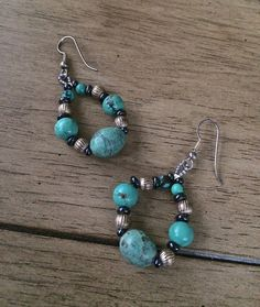 Turquoise & Sterling Silver Earrings by ASapphireSpirit on Etsy