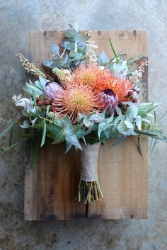 Peachy February Wedding at Port Arthur - Wildflower, Australian Native and Berry. Peachy February Wedding at Port Arthur - Wildflower, Australian Native and Berry bouquet with texture by Swallows Nest Farm Tasmania Australian Wildflowers, Australian Native Flowers, Bouquet Bride, Wedding Bouquets, Wedding Flower Arrangements, Floral Arrangements, Bloom, Forest Wedding Reception, Summer Wedding