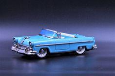 "HAJI 1955 Ford 2-door convertible 7 1/2"" Vintage tin litho metal car by TintageCars on Etsy https://www.etsy.com/listing/504560682/haji-1955-ford-2-door-convertible-7-12"