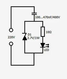 Revista ELEKTRONIKA: Circuito para conectar un led a 220 V.