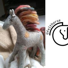 Unique Gifts For Girls, Gifts For Kids, Felt Gifts, Natural Toys, Colorful Animals, Waldorf Toys, Felt Animals, Toys For Girls, Beautiful Horses