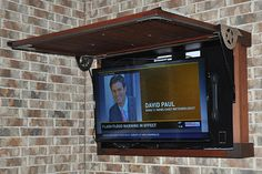 Outdoor tv cabinet Swivel tv and mounted sound bar