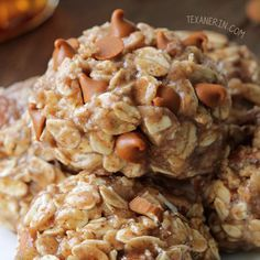 These healthy No-bake Maple Almond Butter Cookies only take a few minutes to make and are naturally gluten-free, vegan, 100% whole grain and dairy-free!