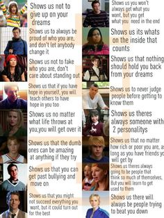 I don't agree with several of these because they seem to miss what is at the core of some of these characters but it is a nice thought.