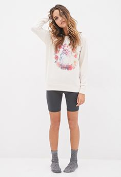Owl & Wreath PJ Pullover | FOREVER21 - 2000082677 (take shoulder and collar off)