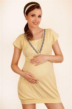 Nočná košieľka pre absolútny komfort v tehotenstve a pri dojčení. S praktickými košíčkami! Nevystužené dvojvrstvové bavlnené košíčky - vnútorná časť má komfortné prestrihy, ktoré je možno ľahko vyhrnúť počas kojenia Košieľka je pohodlná, ale zároveň poskytuje perfektnú oporu počas noci, ako bežná dojčiaca podprsenka Obvod pod prsiami je zakončený elastickou gumičkou Bavlnený materiál s prídavkom elastanu zaručí vysokú pružnosť materiálu.