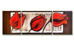 ONLINE SCHILDERIJEN KOPEN Paintings, Red Flowers, Big Flowers, Paintings Of Flowers, Poppies, Tulips, Atelier, Kunst, Paint