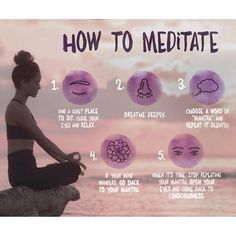 How to meditate info graphic