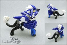 Lunaris - the moon griffin - polymer clay by CalicoGriffin.deviantart.com on @DeviantArt