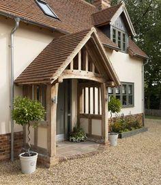 Cottage Front Doors, Cottage Porch, Cottage Exterior, Veranda Design, Border Oak, Farmhouse Front Porches, Front Porch Design, House With Porch, House Goals