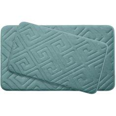Caicos Large 2 Piece Premium Micro Plush Memory Foam Bath Mat Set