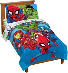Avengers Bedding, Marvel Bedding, Kids Sheet Sets, Kids Sheets, Toddler Comforter, Toddler Bed, Best Avenger, Foldable Bed, Comfy Bed