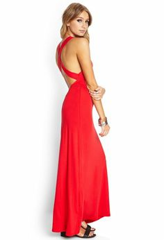 Red long dress forever 21 clothing