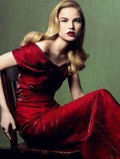 Photograph by Craig McDean #fashion #red_lipstick
