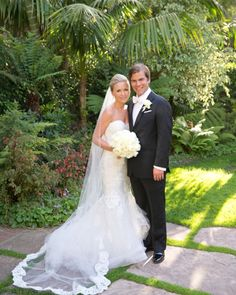 Living in Los Angeles at the time, the pair wanted a locale at which all 175 of their friends and family could come together for a weekend away, and so they chose Santa Barbara for their three days of celebrating. The weekend kicked off with a Havana Nights-inspired welcome party and was anchored by the main event—a classic church ceremony and an elegant reception.