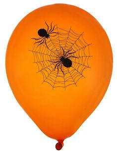 8 Globos de látex telaraña Halloween: Este lote incluye 8 globos de…