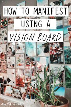 Vision Boards are excellent manifesting tools! Learn how to manifest using a vision board. vision board How To Manifest Using a Vision Board Vision Boarding, Beltane, Diy Image, Goal Board, Creating A Vision Board, Visualisation, How To Manifest, Inspiration Boards, Business Inspiration