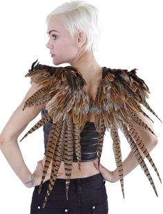 Amazon.com - Zucker Feather Products Over The Shoulder Natural Pheasant Feather Wing, 24 by 27-Inch - Unique Decorative Items