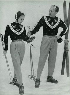 Old School Style On The Slopes Gary Cooper Ingrid