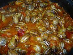 COCINICA de Benas: Caracoles con fritada.